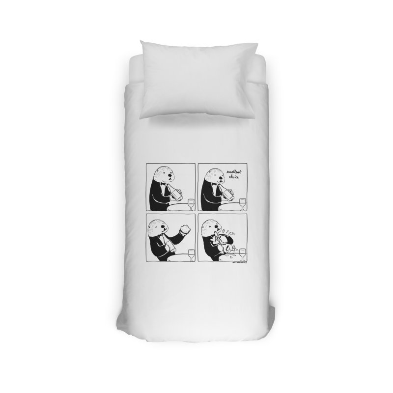 EXCELLENT CHOICE / OTTER Home Duvet by Nathan W Pyle