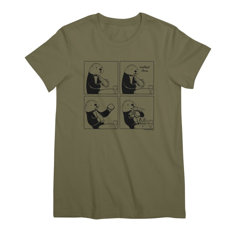 EXCELLENT CHOICE / OTTER Women's Premium T-Shirt by Nathan W Pyle