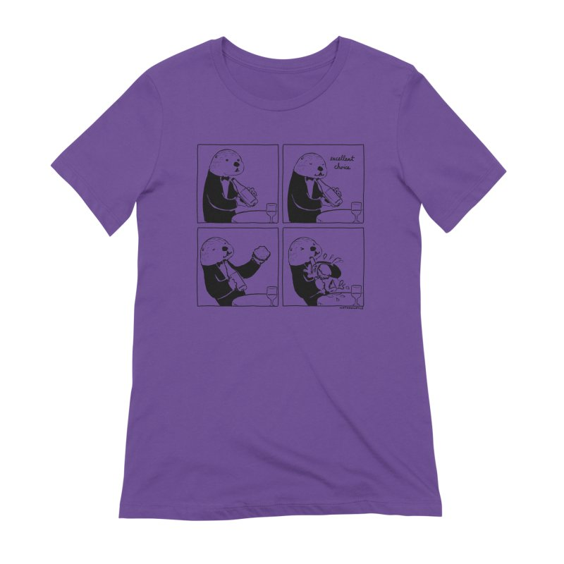 EXCELLENT CHOICE / OTTER Women's Extra Soft T-Shirt by Nathan W Pyle
