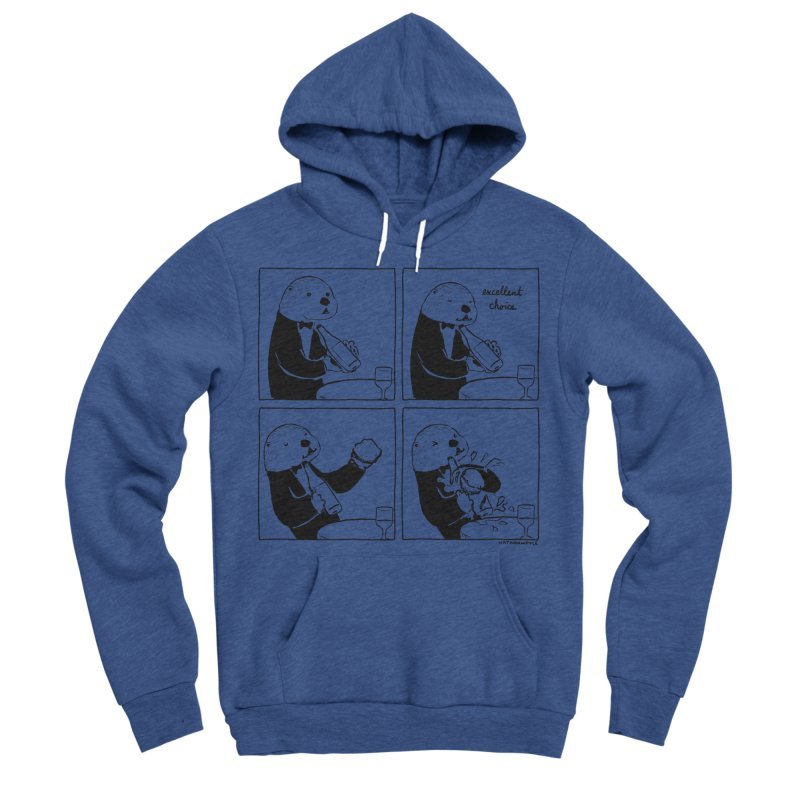 EXCELLENT CHOICE / OTTER Women's Sponge Fleece Pullover Hoody by Nathan W Pyle