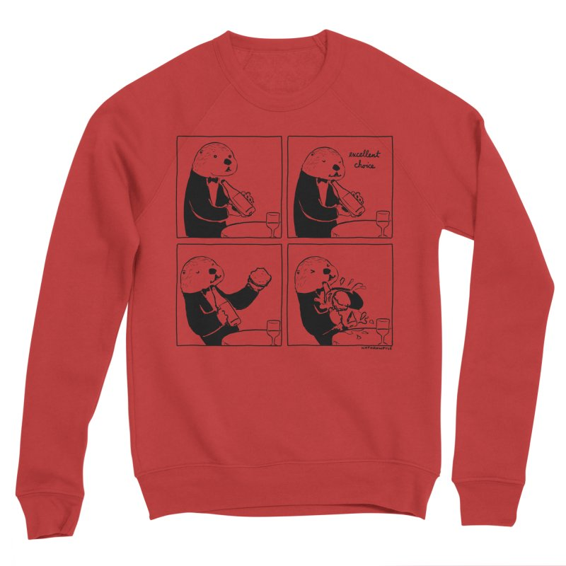 EXCELLENT CHOICE / OTTER Men's Sponge Fleece Sweatshirt by Nathan W Pyle