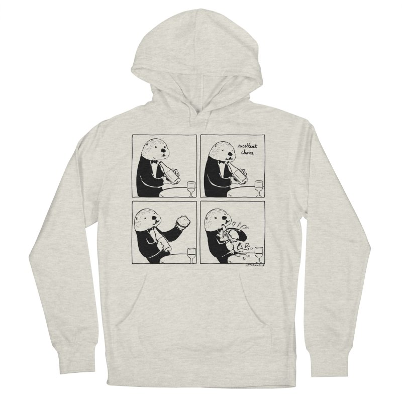 EXCELLENT CHOICE / OTTER Women's French Terry Pullover Hoody by Nathan W Pyle