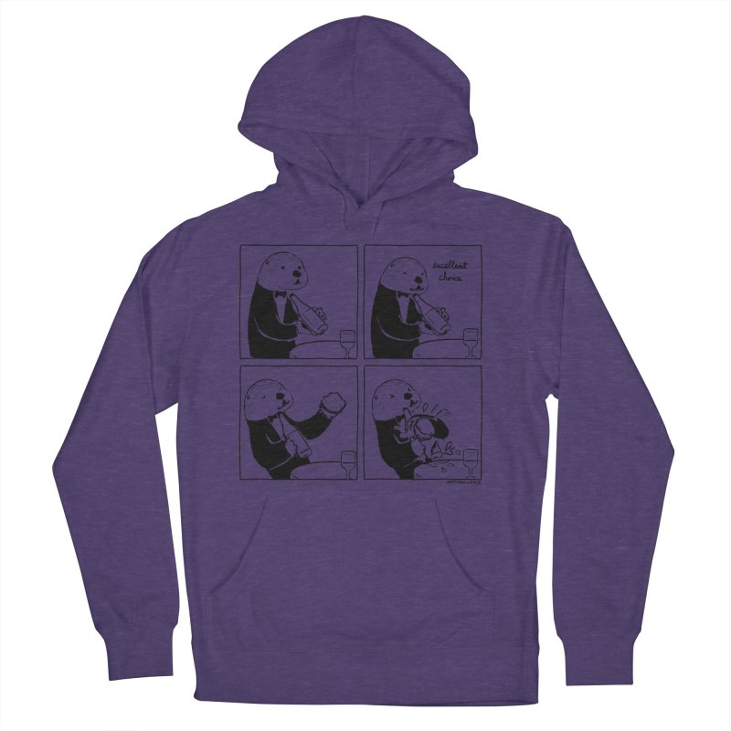 EXCELLENT CHOICE / OTTER Men's French Terry Pullover Hoody by Nathan W Pyle