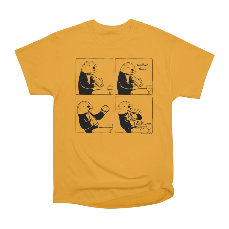 EXCELLENT CHOICE / OTTER Men's T-Shirt by Nathan W Pyle