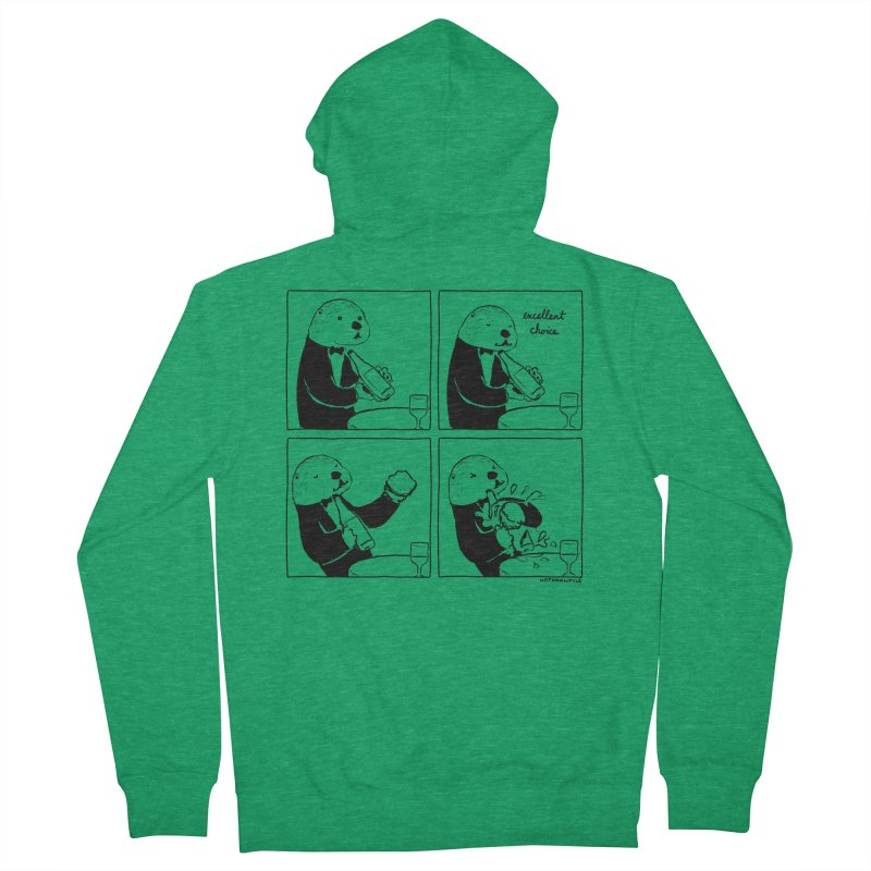 EXCELLENT CHOICE / OTTER Men's Zip-Up Hoody by Nathan W Pyle