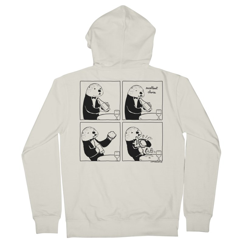 EXCELLENT CHOICE / OTTER Men's French Terry Zip-Up Hoody by Nathan W Pyle