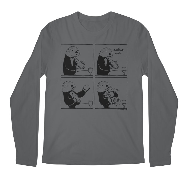EXCELLENT CHOICE / OTTER Men's Longsleeve T-Shirt by Nathan W Pyle
