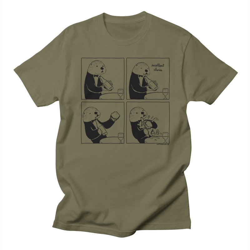 EXCELLENT CHOICE / OTTER Men's Regular T-Shirt by Nathan W Pyle