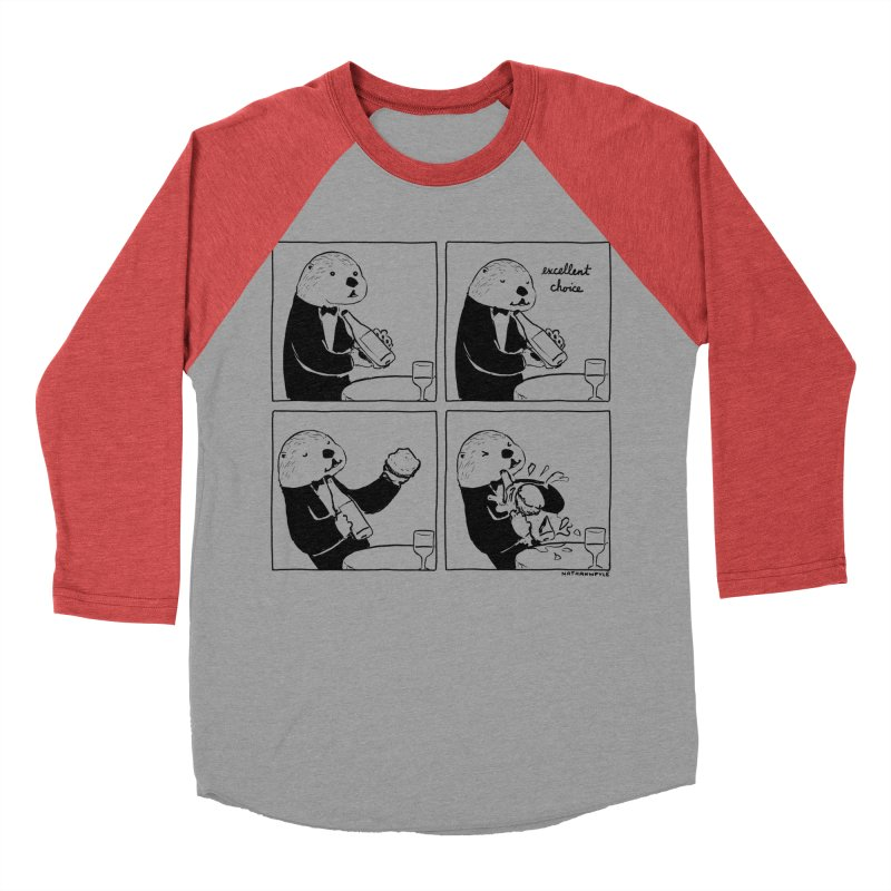 EXCELLENT CHOICE / OTTER Men's Baseball Triblend Longsleeve T-Shirt by Nathan W Pyle