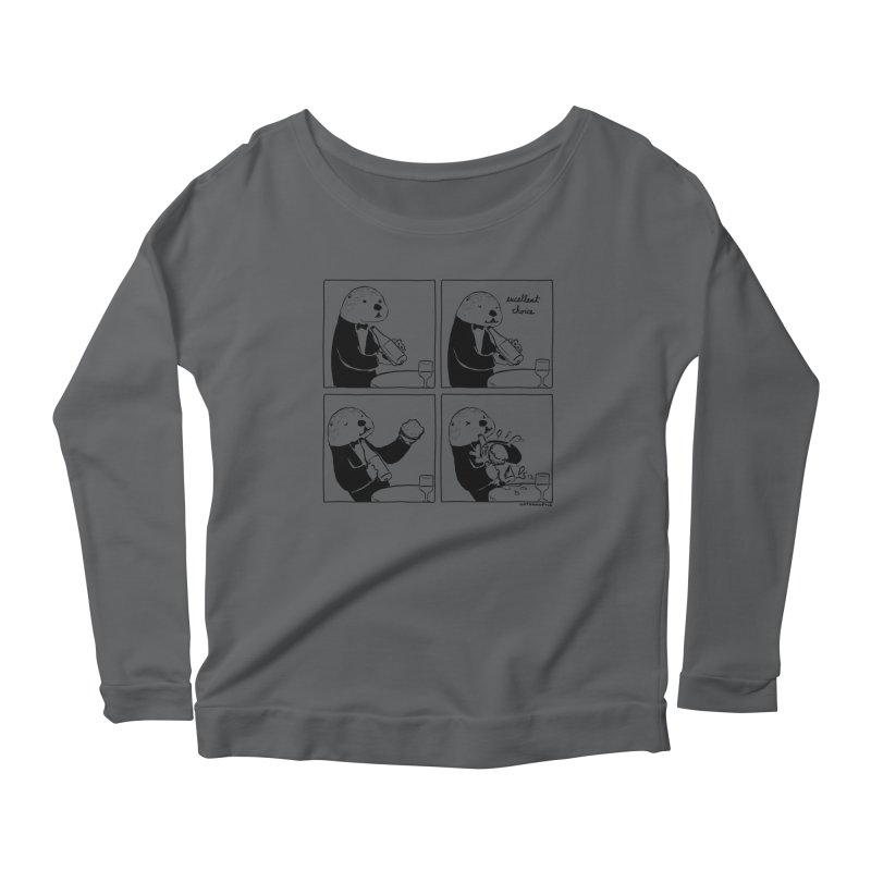 EXCELLENT CHOICE / OTTER Women's Longsleeve T-Shirt by Nathan W Pyle
