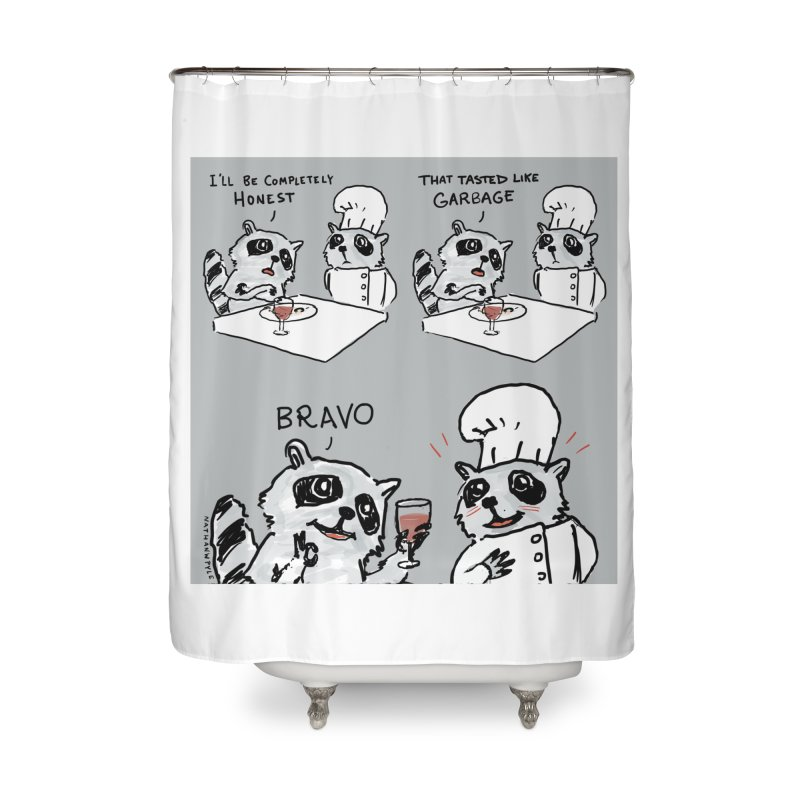 GARBAGE Home Shower Curtain by Nathan W Pyle