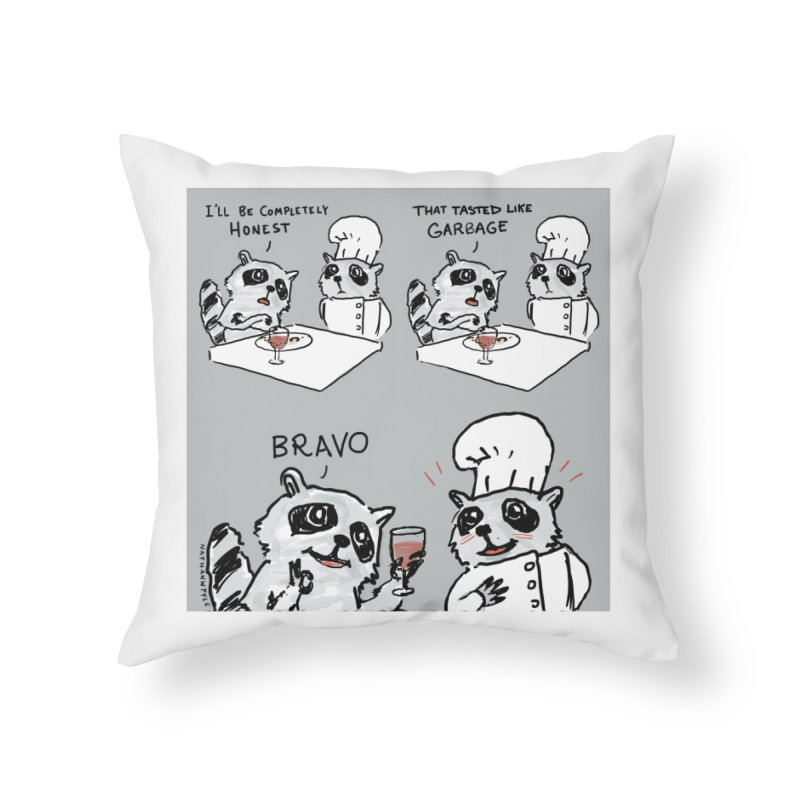 GARBAGE Home Throw Pillow by Nathan W Pyle