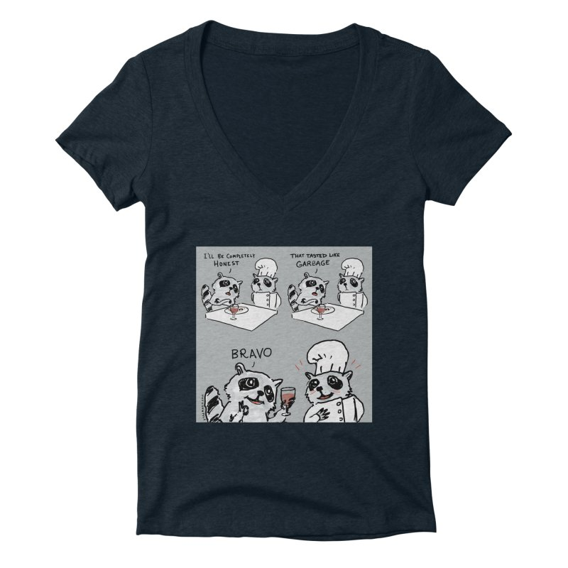 GARBAGE Women's Deep V-Neck V-Neck by Nathan W Pyle