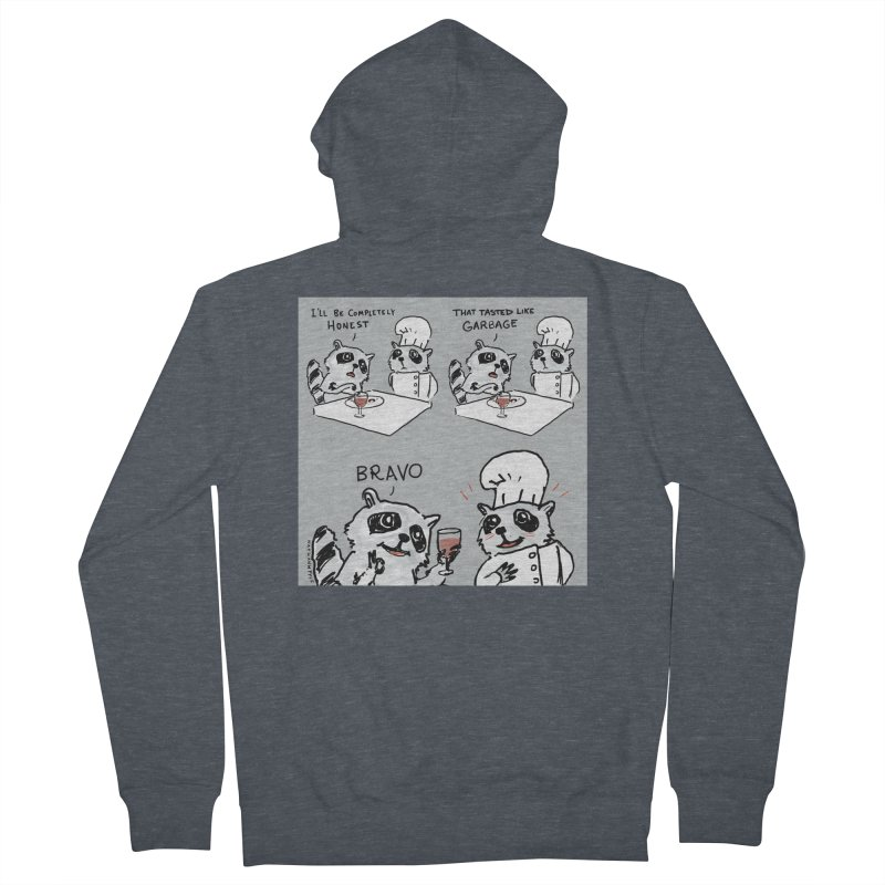 GARBAGE Men's French Terry Zip-Up Hoody by Nathan W Pyle