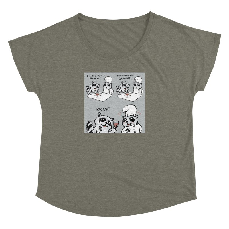 GARBAGE Women's Dolman Scoop Neck by Nathan W Pyle