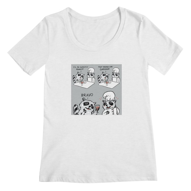 GARBAGE Women's Scoop Neck by Nathan W Pyle