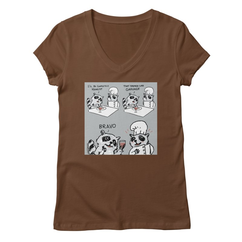GARBAGE Women's Regular V-Neck by Nathan W Pyle
