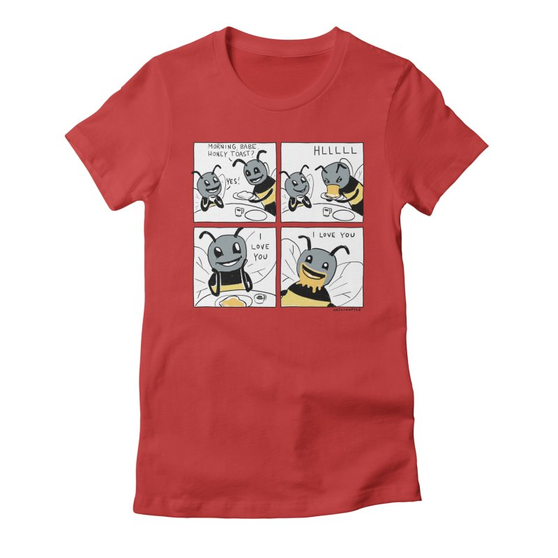 HONEY Women's Fitted T-Shirt by Nathan W Pyle