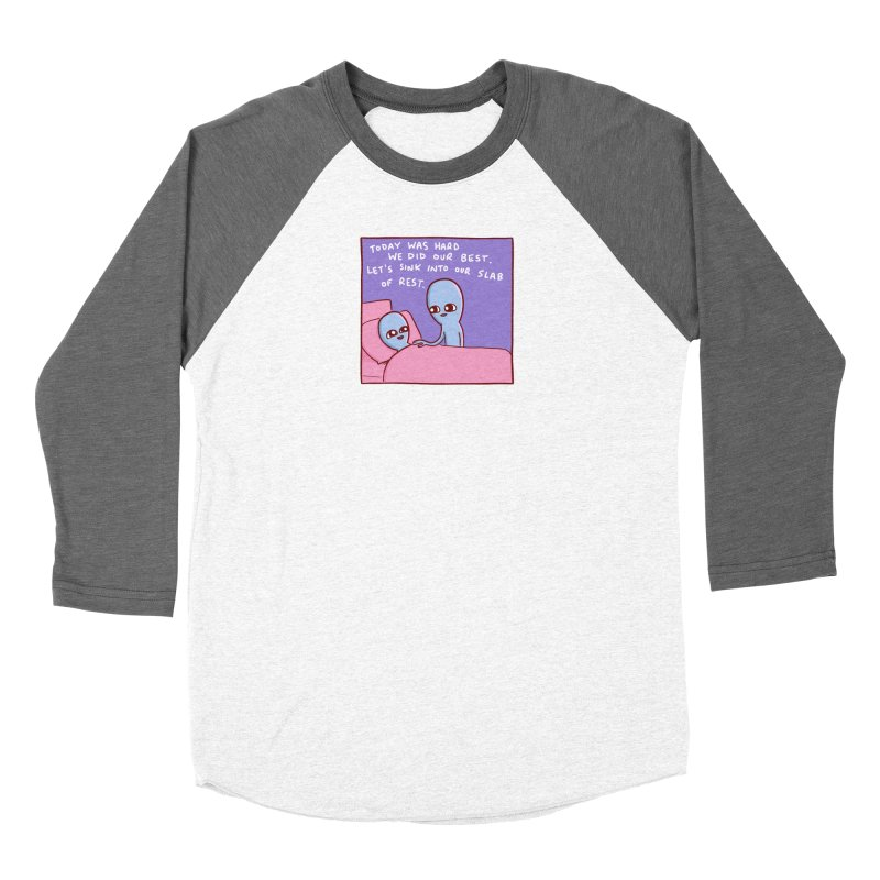 STRANGE PLANET SPECIAL PRODUCT: TODAY WAS HARD WE DID OUR BEST Women's Longsleeve T-Shirt by Nathan W Pyle