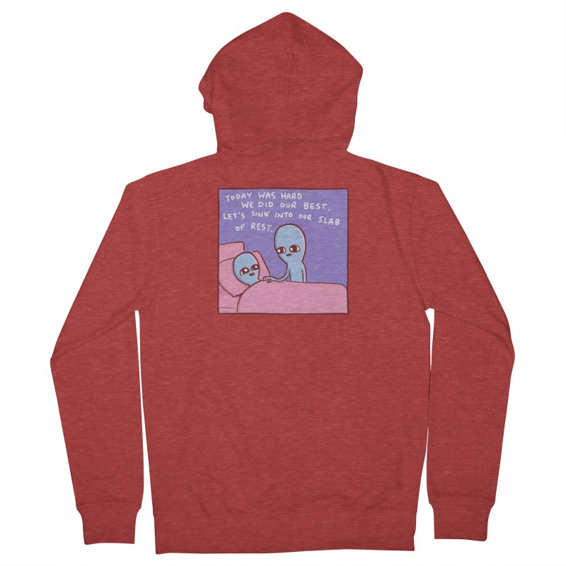 STRANGE PLANET SPECIAL PRODUCT: TODAY WAS HARD WE DID OUR BEST Women's Zip-Up Hoody by Nathan W Pyle