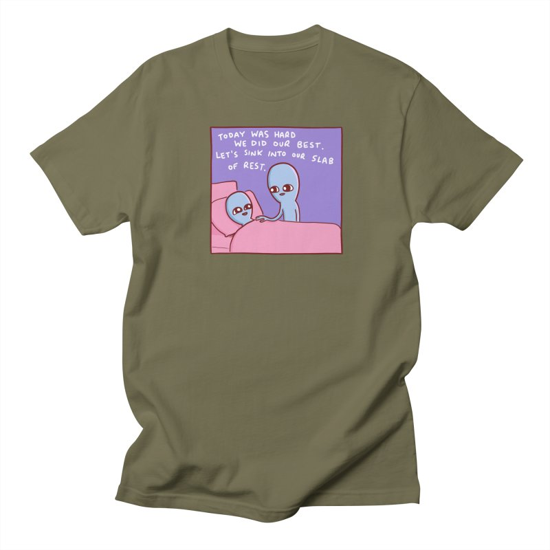 STRANGE PLANET SPECIAL PRODUCT: TODAY WAS HARD WE DID OUR BEST Men's T-Shirt by Nathan W Pyle