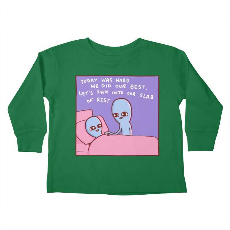 STRANGE PLANET SPECIAL PRODUCT: TODAY WAS HARD WE DID OUR BEST Kids Toddler Longsleeve T-Shirt by Nathan W Pyle