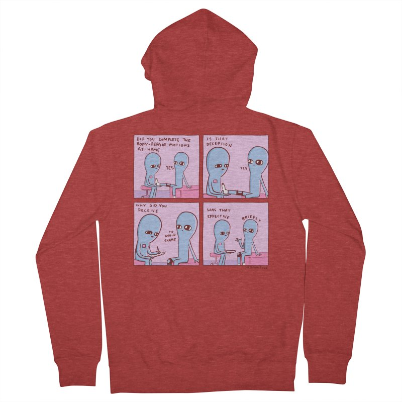 STRANGE PLANET: BODY REPAIR MOTIONS / IS THAT DECEPTION Women's French Terry Zip-Up Hoody by Nathan W Pyle