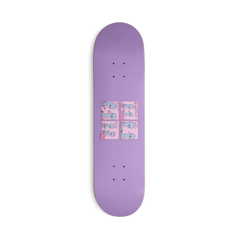STRANGE PLANET PURPLE BORDER: BODY REPAIR MOTIONS / IS THAT DECEPTION Accessories Deck Only Skateboard by Nathan W Pyle