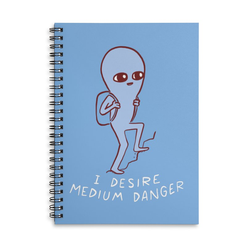 STRANGE PLANET SPECIAL PRODUCT: I DESIRE MEDIUM DANGER Accessories Lined Spiral Notebook by Nathan W Pyle
