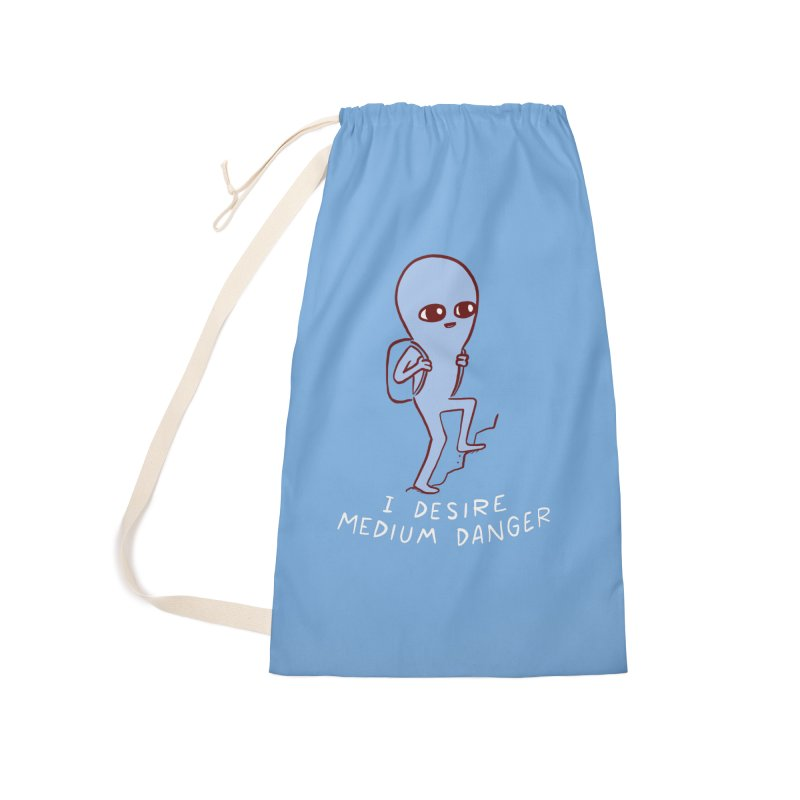 STRANGE PLANET SPECIAL PRODUCT: I DESIRE MEDIUM DANGER Accessories Laundry Bag Bag by Nathan W Pyle