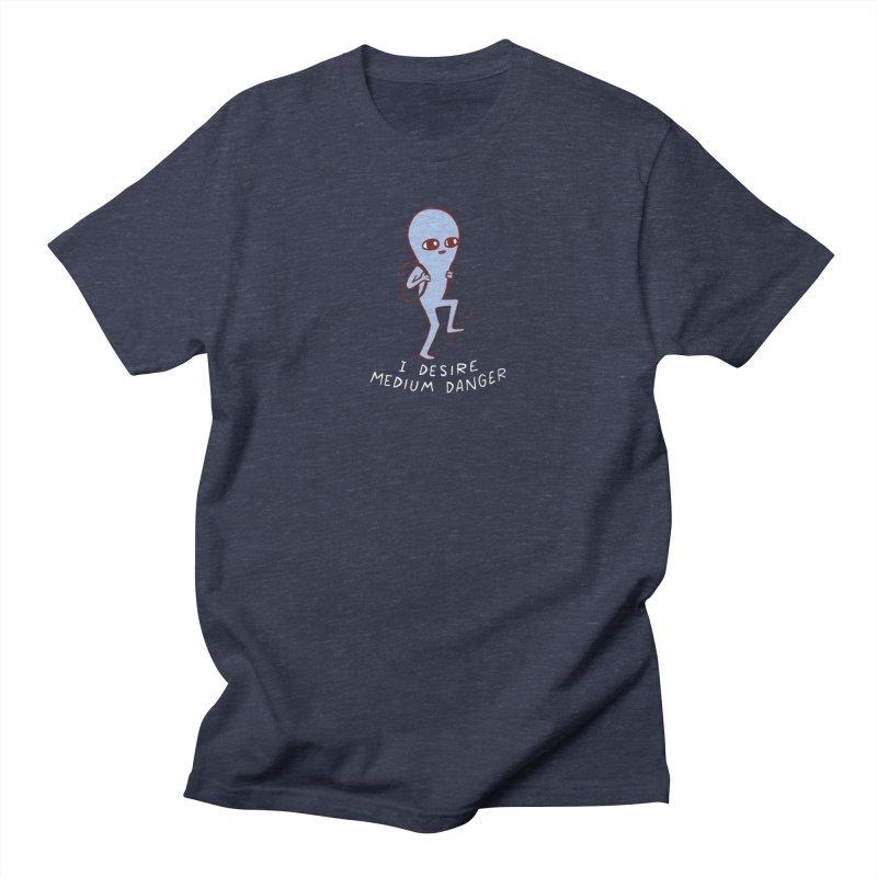 STRANGE PLANET SPECIAL PRODUCT: I DESIRE MEDIUM DANGER Men's T-Shirt by Nathan W Pyle