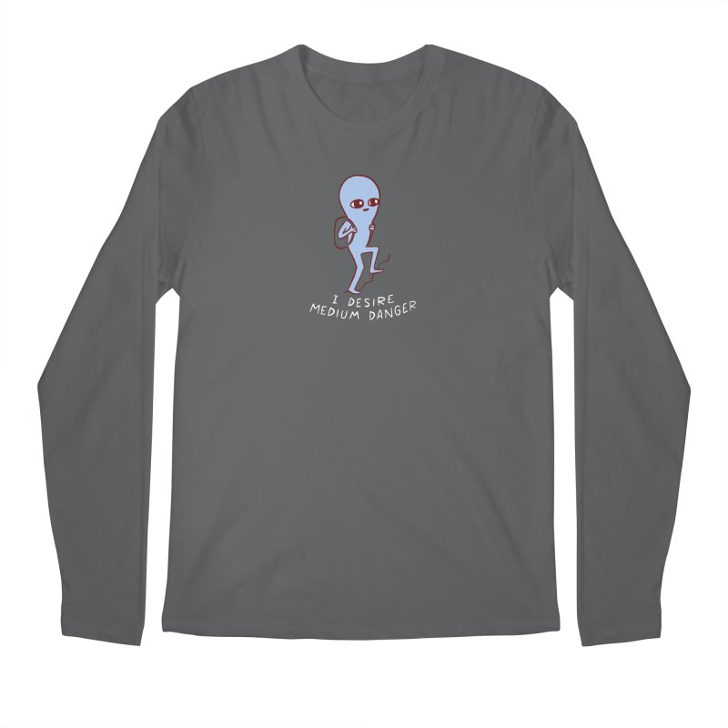 STRANGE PLANET SPECIAL PRODUCT: I DESIRE MEDIUM DANGER Men's Longsleeve T-Shirt by Nathan W Pyle