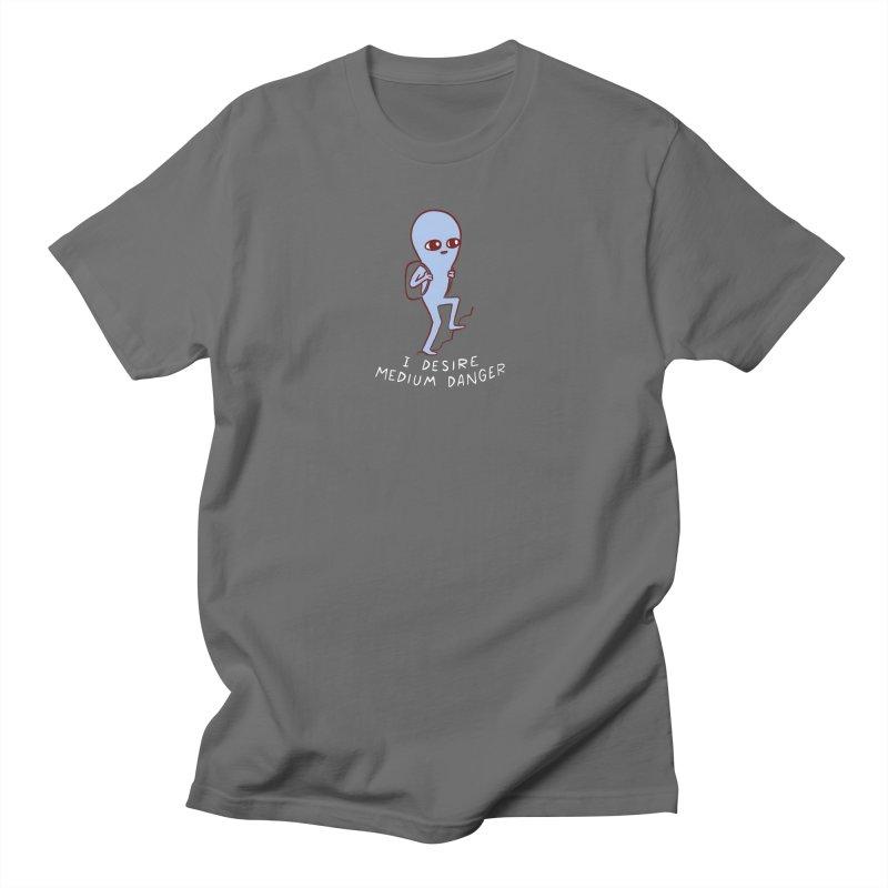 STRANGE PLANET SPECIAL PRODUCT: I DESIRE MEDIUM DANGER Men's T-Shirt by Nathan W Pyle Shop   Strange Planet Store   Thread