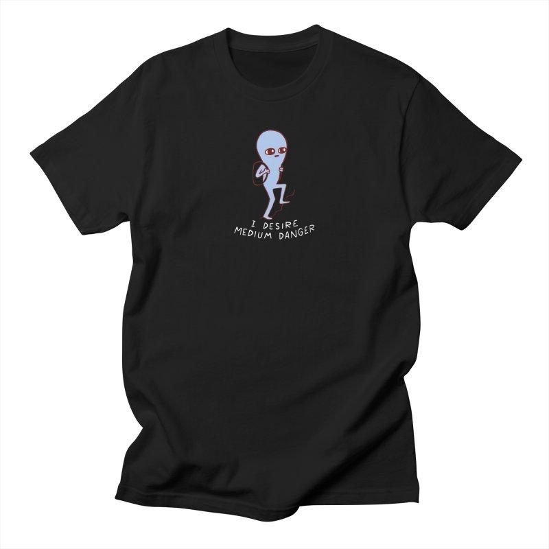 STRANGE PLANET SPECIAL PRODUCT: I DESIRE MEDIUM DANGER Men's Regular T-Shirt by Nathan W Pyle