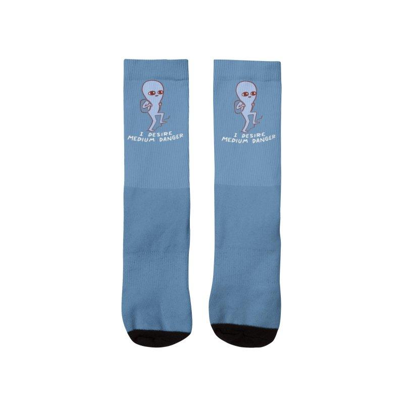STRANGE PLANET SPECIAL PRODUCT: I DESIRE MEDIUM DANGER Women's Socks by Nathan W Pyle Shop   Strange Planet Store   Thread