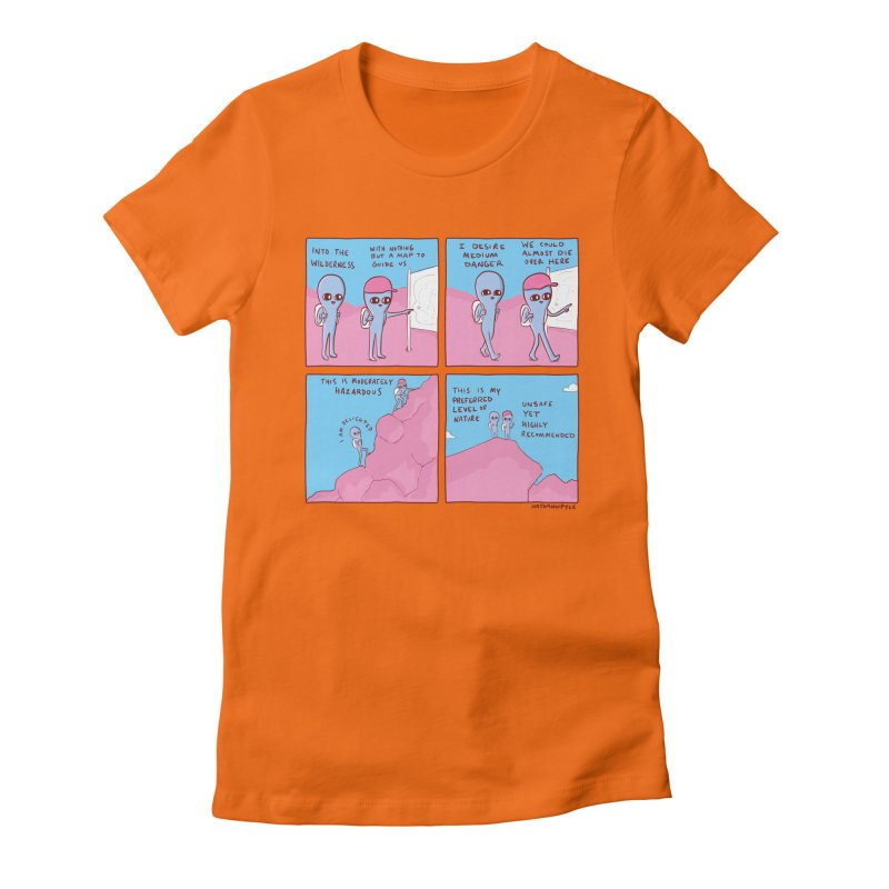 STRANGE PLANET: I DESIRE MEDIUM DANGER Women's T-Shirt by Nathan W Pyle