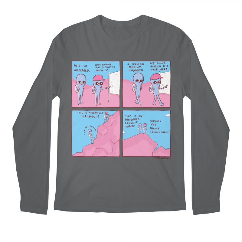 STRANGE PLANET: I DESIRE MEDIUM DANGER Men's Longsleeve T-Shirt by Nathan W Pyle