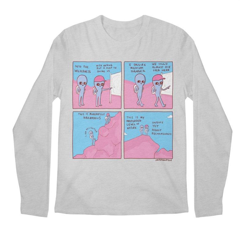 STRANGE PLANET: I DESIRE MEDIUM DANGER Men's Regular Longsleeve T-Shirt by Nathan W Pyle