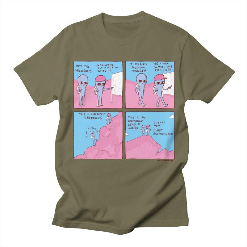 STRANGE PLANET: I DESIRE MEDIUM DANGER Men's T-Shirt by Nathan W Pyle Shop   Strange Planet Store   Thread