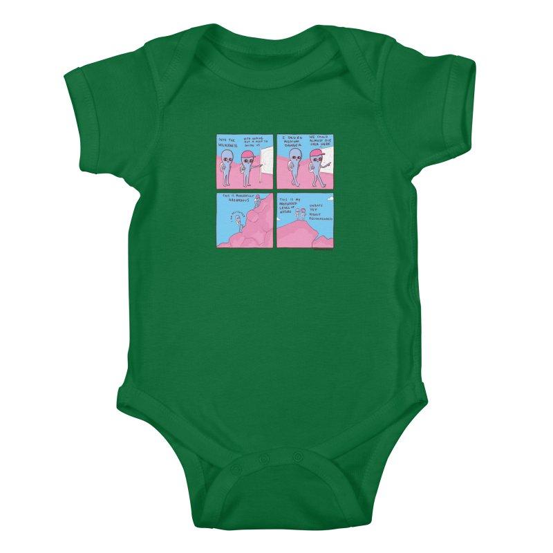 STRANGE PLANET: I DESIRE MEDIUM DANGER Kids Baby Bodysuit by Nathan W Pyle Shop   Strange Planet Store   Thread