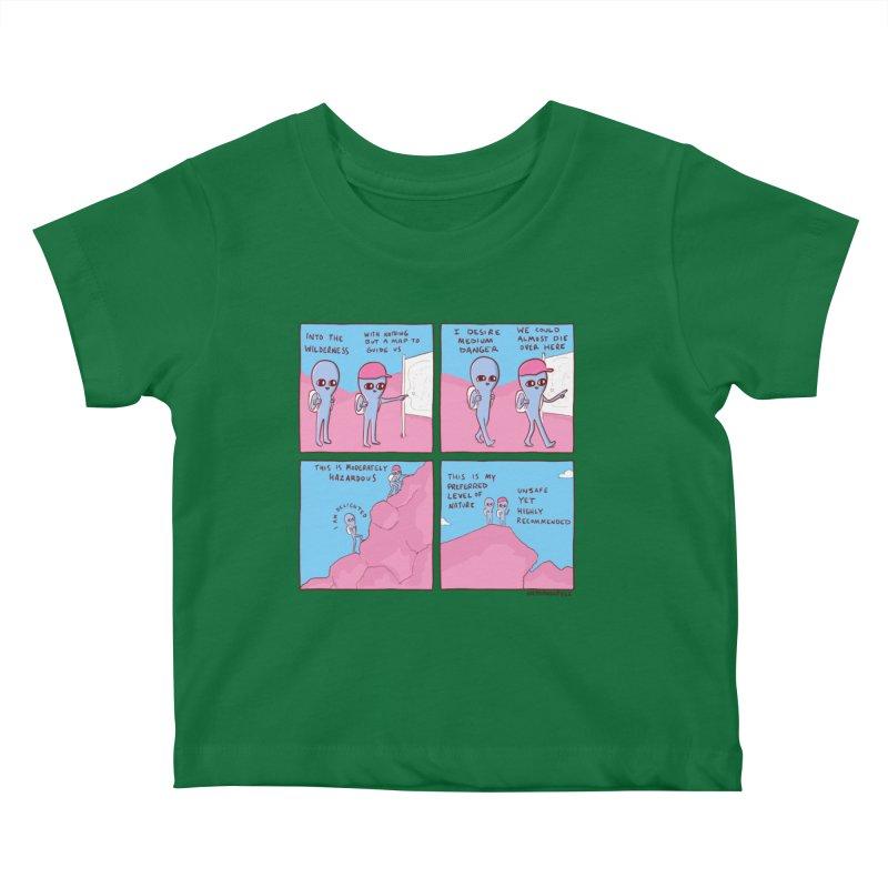 STRANGE PLANET: I DESIRE MEDIUM DANGER Kids Baby T-Shirt by Nathan W Pyle Shop | Strange Planet Store | Thread