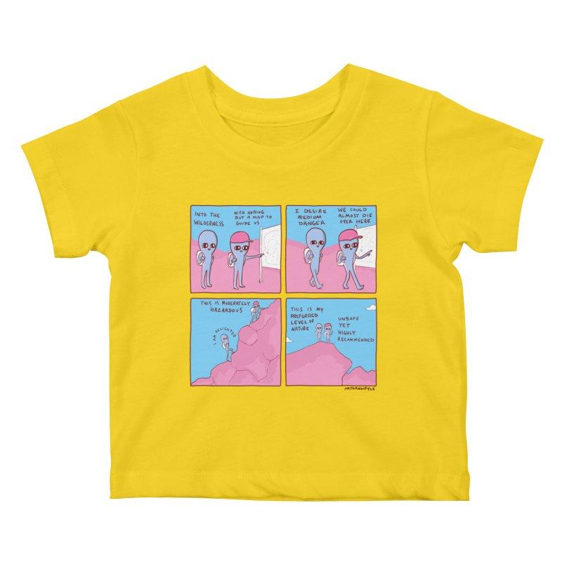 STRANGE PLANET: I DESIRE MEDIUM DANGER Kids Baby T-Shirt by Nathan W Pyle Shop   Strange Planet Store   Thread
