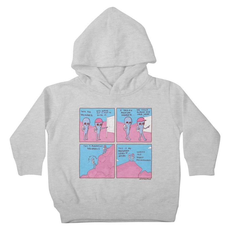 STRANGE PLANET: I DESIRE MEDIUM DANGER Kids Toddler Pullover Hoody by Nathan W Pyle Shop   Strange Planet Store   Thread