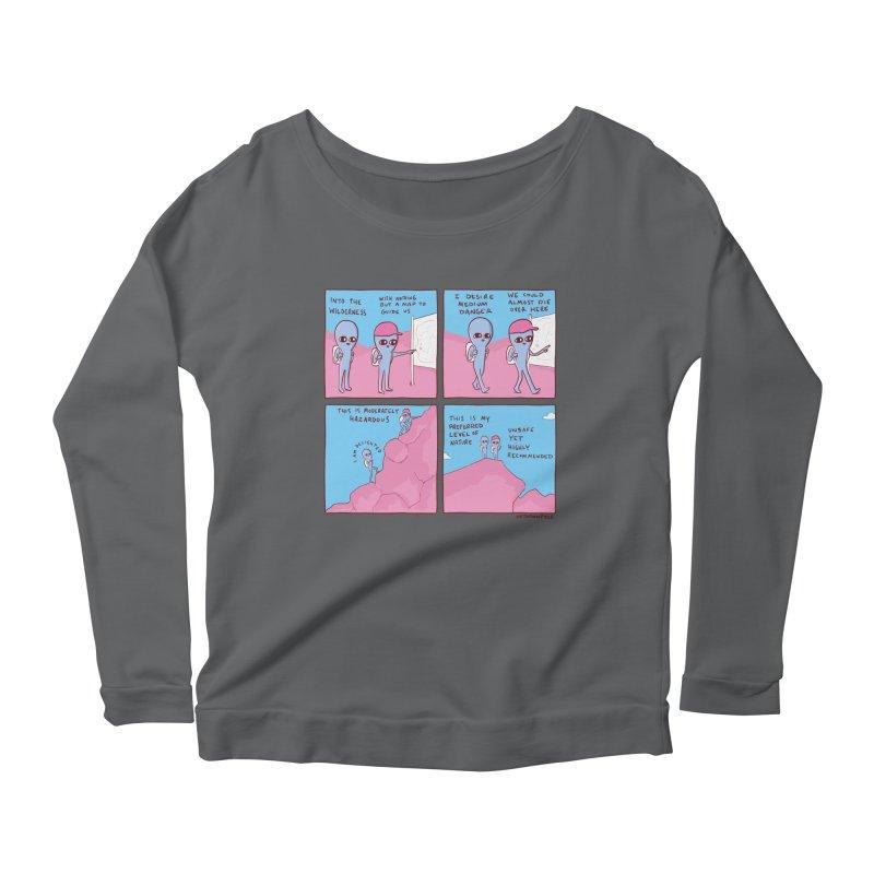 STRANGE PLANET: I DESIRE MEDIUM DANGER Women's Scoop Neck Longsleeve T-Shirt by Nathan W Pyle