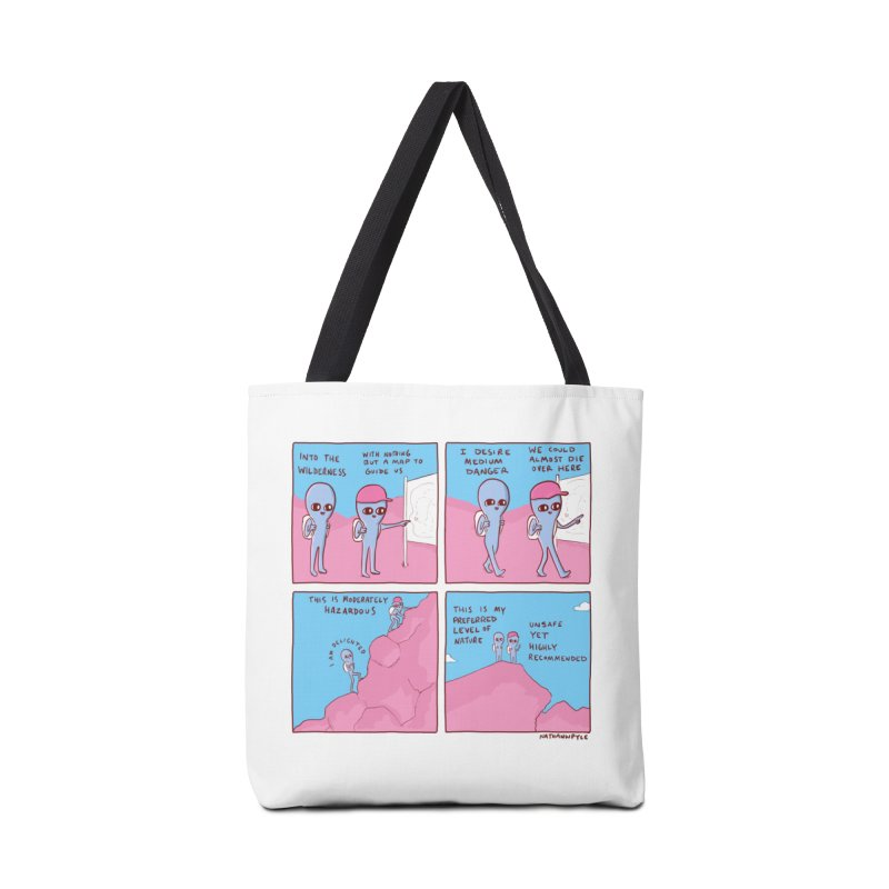 STRANGE PLANET: I DESIRE MEDIUM DANGER Accessories Tote Bag Bag by Nathan W Pyle