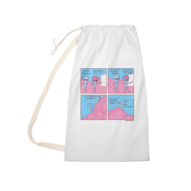 STRANGE PLANET: I DESIRE MEDIUM DANGER Accessories Laundry Bag Bag by Nathan W Pyle