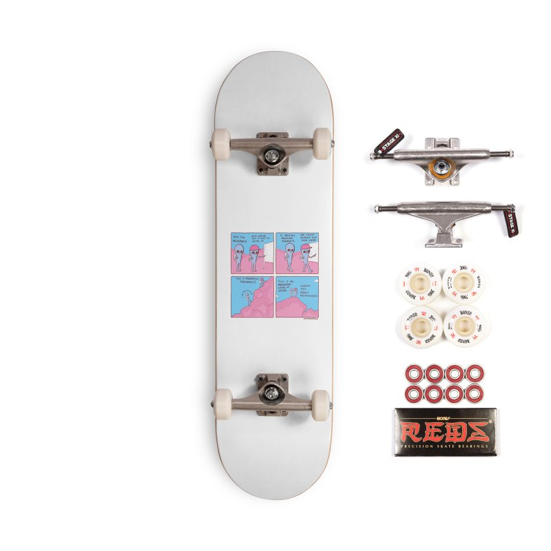STRANGE PLANET: I DESIRE MEDIUM DANGER Accessories Complete - Pro Skateboard by Nathan W Pyle
