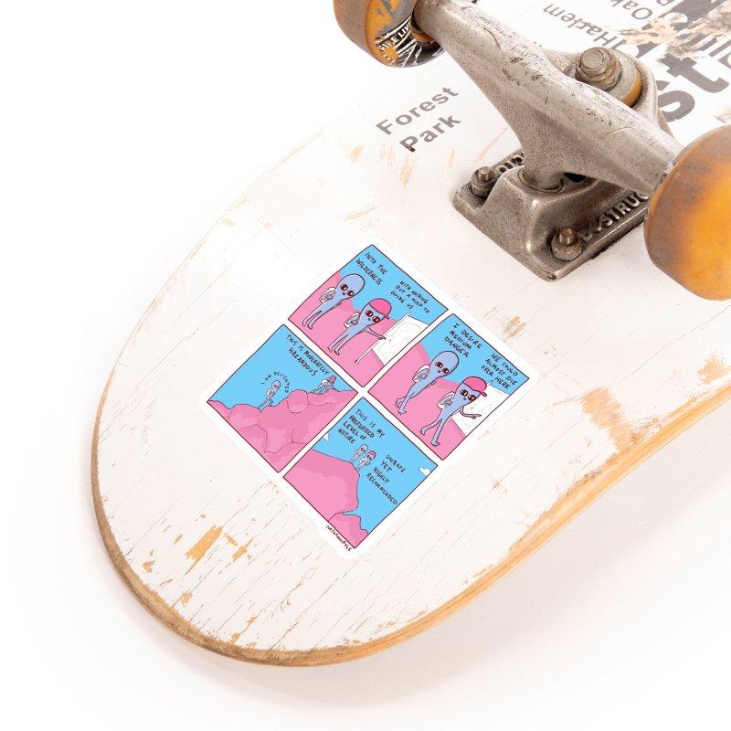 STRANGE PLANET: I DESIRE MEDIUM DANGER Accessories Sticker by Nathan W Pyle