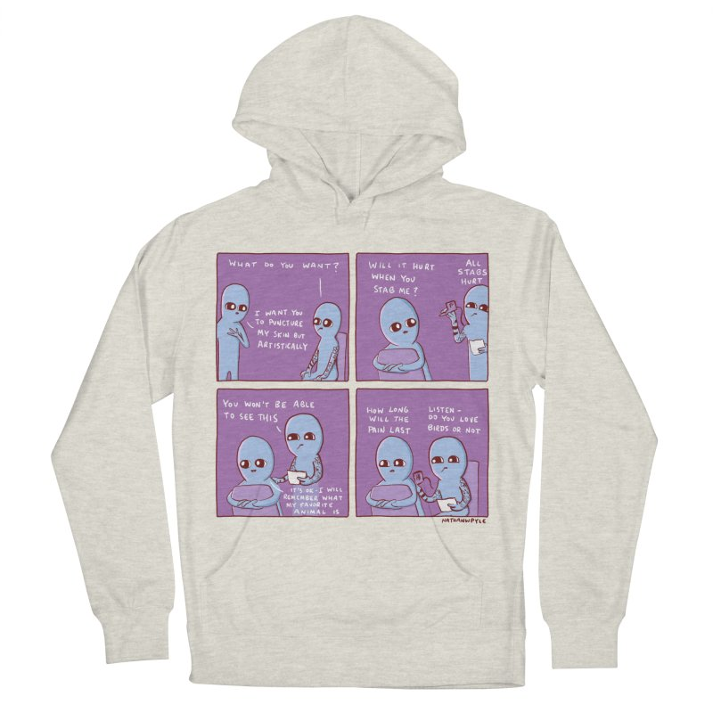 STRANGE PLANET: HOW LONG WILL THE PAIN LAST / DO YOU LOVE BIRDS OR NOT Women's French Terry Pullover Hoody by Nathan W Pyle
