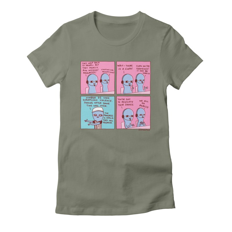 STRANGE PLANET: SUPERFLUOUS VIOLENCE / REGULATE YOUR SHOVES Women's T-Shirt by Nathan W Pyle